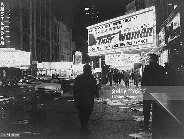 Night View Of Broadway In New York