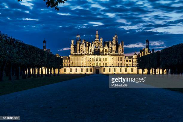 Night view of Chambord Castle - Loire - France