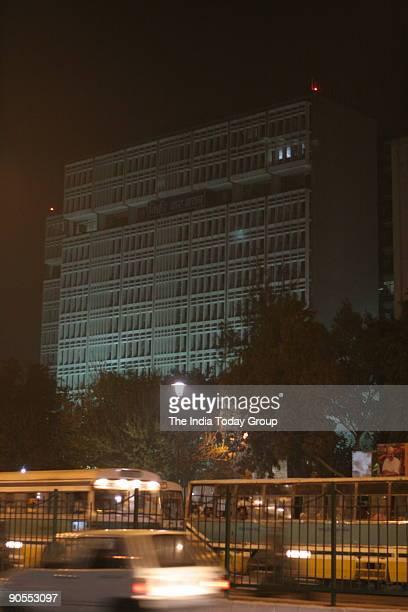 Night view of Delhi Sale Tax Bhawan at ITO New Delhi