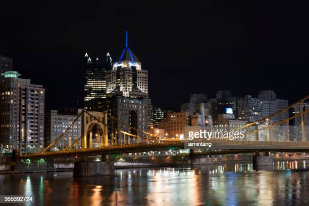 Night view of downtown Pittsburgh