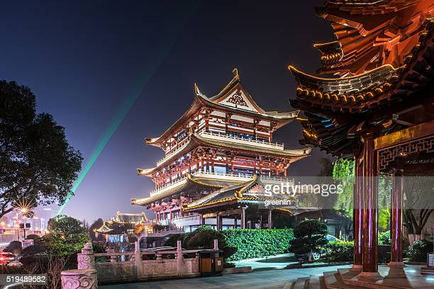 Night view of Drum Tower, changsha, hunan Province, China