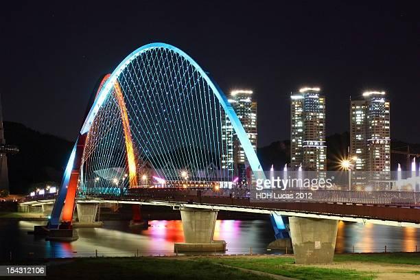 Night view of  Expo bridge
