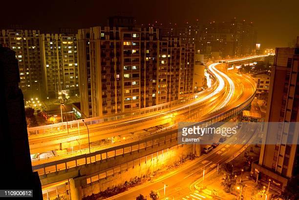 Night view of expressway