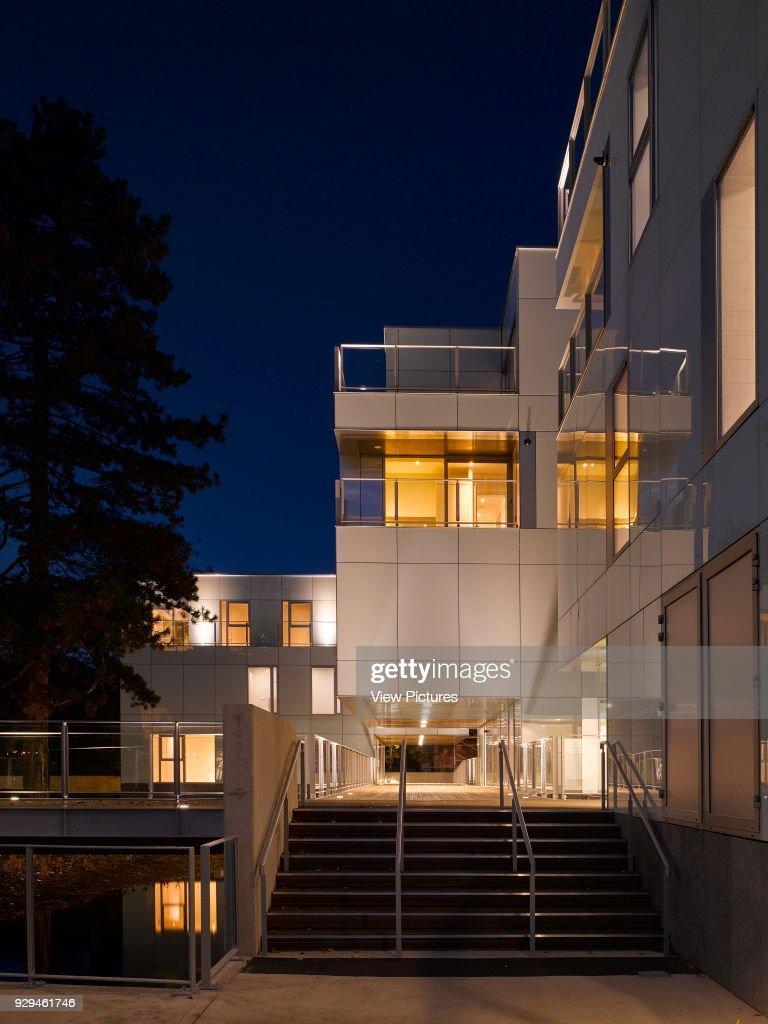 Night View Of Exterior Showing Stairway And Walkway. Dunluce Apartments,  Ballsbridge, Ireland.