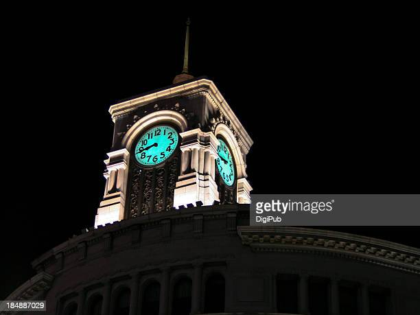 Night view of Ginza clock tower