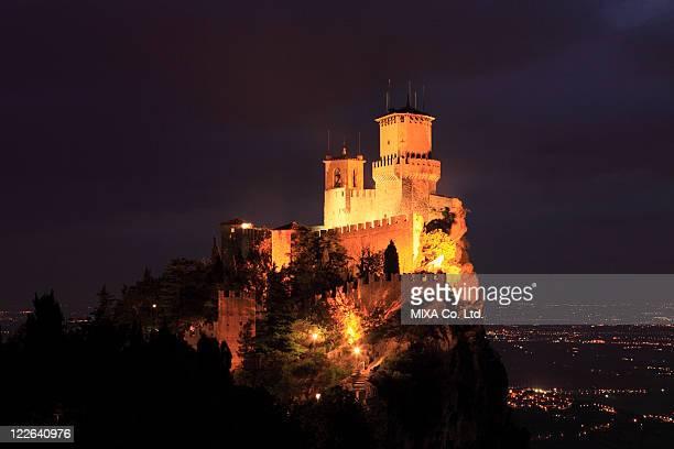Night View of Guaita, San Marino, Most Serene Republic of San Marino
