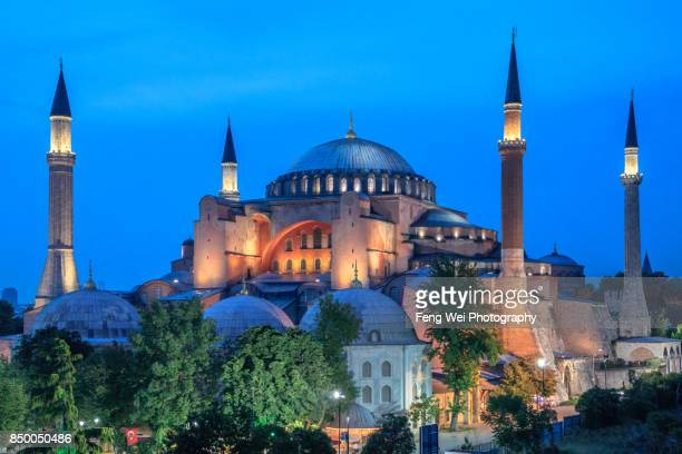 Night View Of Hagia Sophia, Istanbul, Turkey