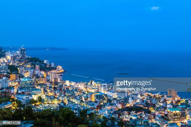 Night view of Holiday resort in Atami Shizuoka, Japan.