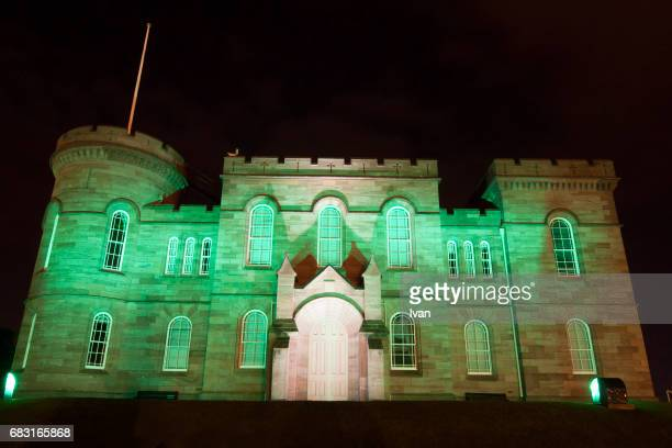 Night view of  Inverness Castle, Scotland, United Kingdom