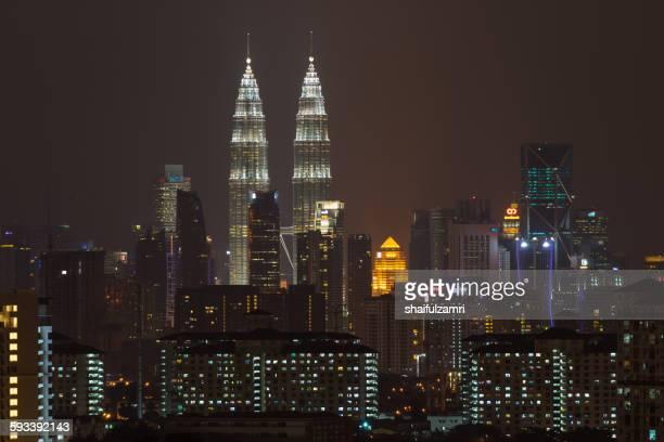 Night view of KLCC in Kuala Lumpur