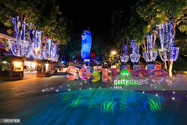 Night View of Marlion at Sentosa Island, Sentosa Island, Singapore