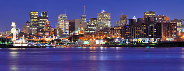 Night view of Montreal Skyline