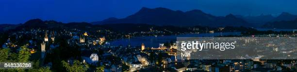 Night view of Panorama of Lucerne, Swaziland