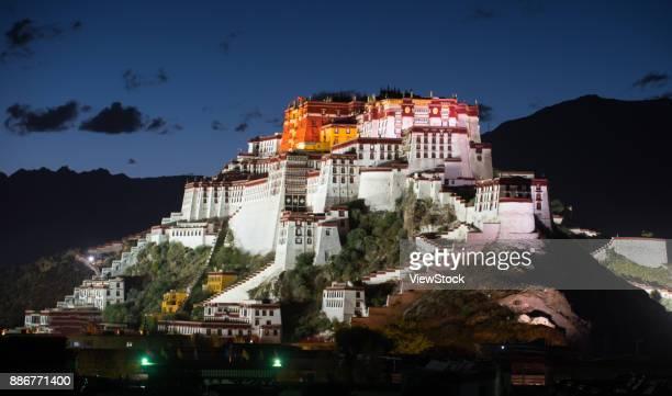 Night view of Potala Palace in Lhasa,Tibet