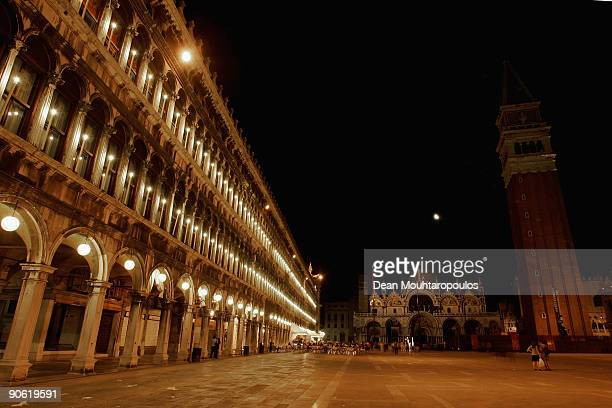 A night view of San Marcos Sqare and Cathedral during the 66th Venice Film Festival on September 10 2009 in Venice Italy