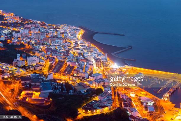 Night view of Santa Cruz de La Palma, capital city of La Palma island (Canary Islands)