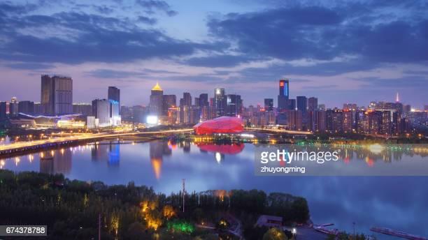 Night view of Shenyang Hun river