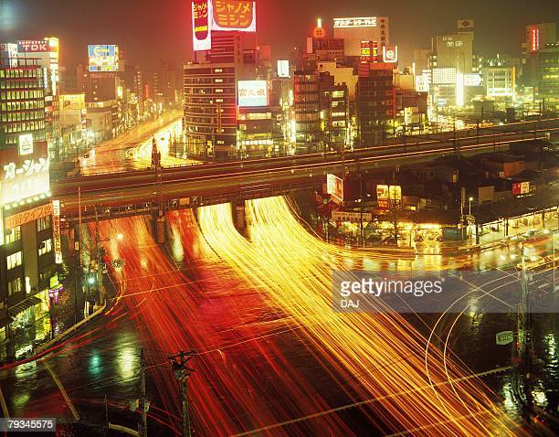 night view of shinjuku in showa - showa period stock pictures, royalty-free photos & images