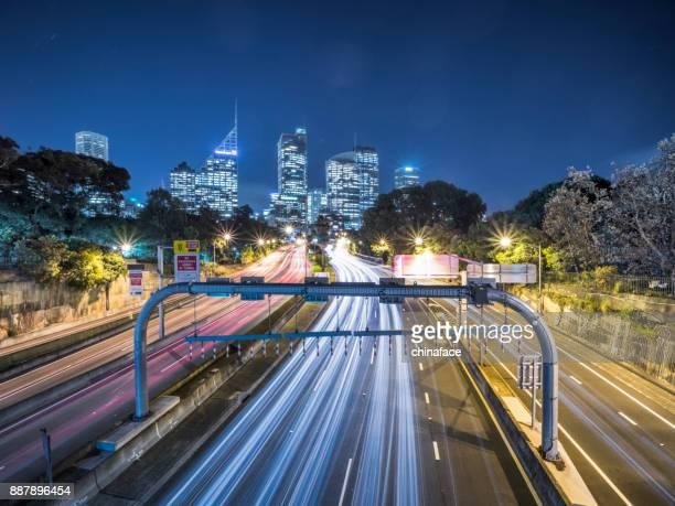 vue de nuit de Sydney