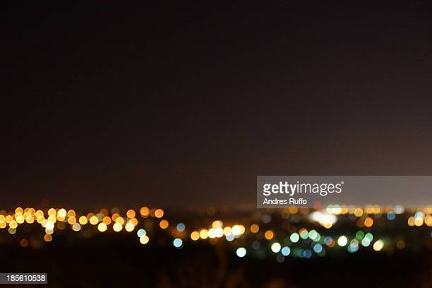 night view of the city of villa allende - andres ruffo stock pictures, royalty-free photos & images