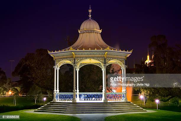 Night View of the Elder Park Rotunda At River Torrens, Adelaide, South Australia