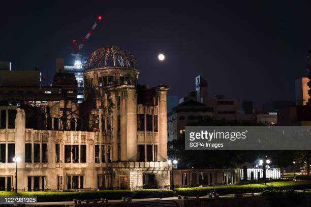 Night view of the Hiroshima Peace Memorial, Atomic Bomb Dome. Hiroshima will mark the 75th anniversary of the atomic bombing which killed about...