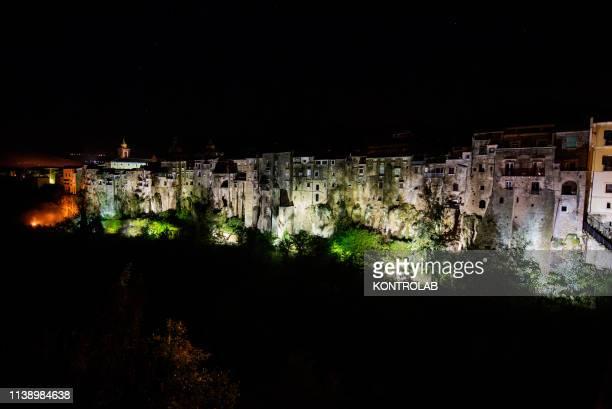 SANT' AGATA DEI GOTI SANT' AGATA DEI GOTI CAMPANIA ITALY Night view of the historic center of Sant' Agata dei Goti Campania region southern Italy