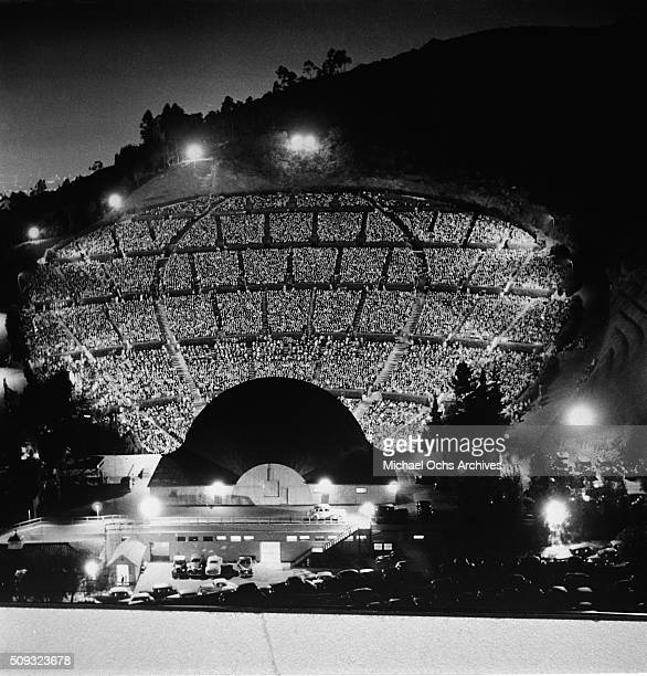 A night view of the Hollywood Bowl in Los AngelesCalifornia n