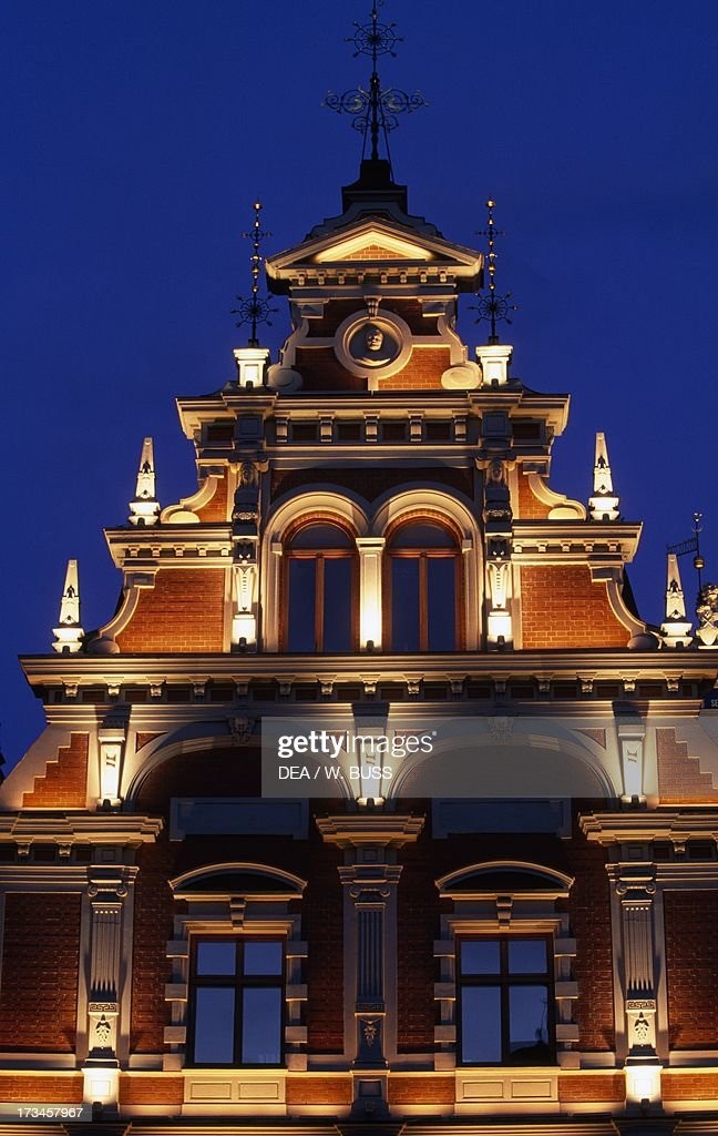 Night View of the House of the Blackheads... : News Photo