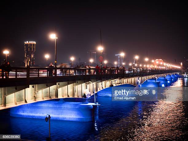 Night view of the Nile in Cairo, Egypt