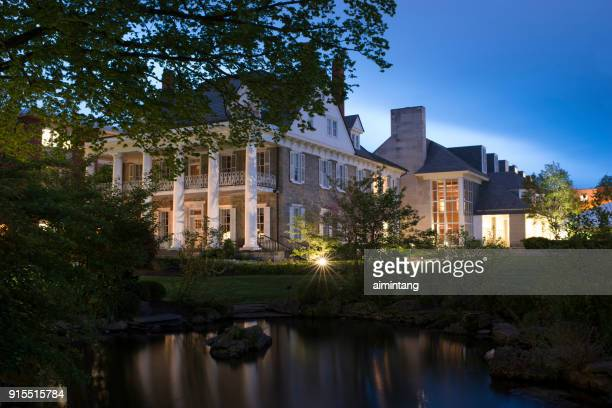 night view of the penn state campus - state college pennsylvania stock pictures, royalty-free photos & images