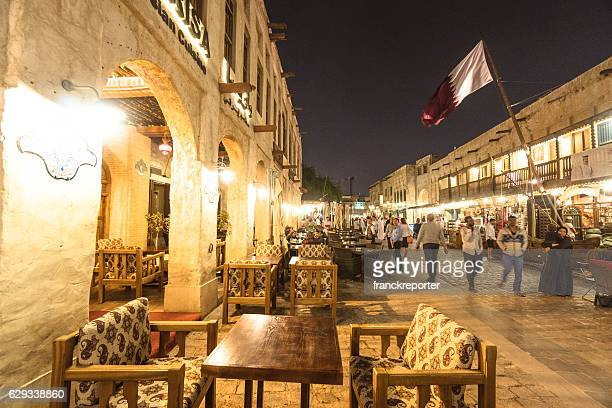 night view of the souq waqif in Doha