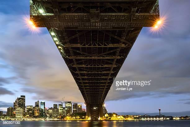 Night view of the  Sydney Harbor Bridge