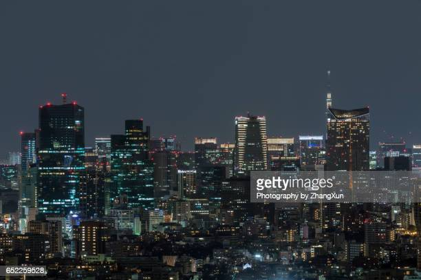 Night view of Tokyo Cityscape from Ebisu Observatory.