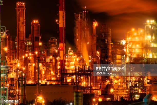 蔚山工業団地の夜景 - 蔚山 ストックフォトと画像