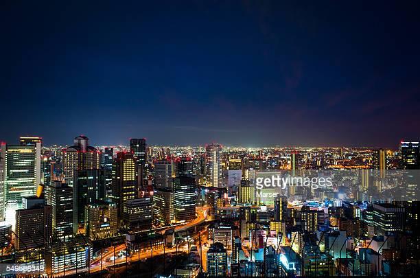Night view of Umeda city