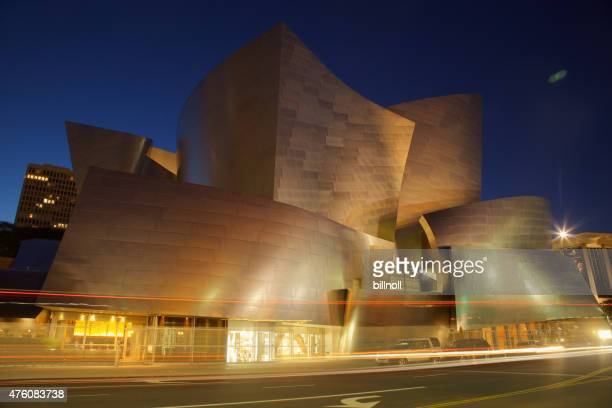 Night view of Walt Disney Concert Hall