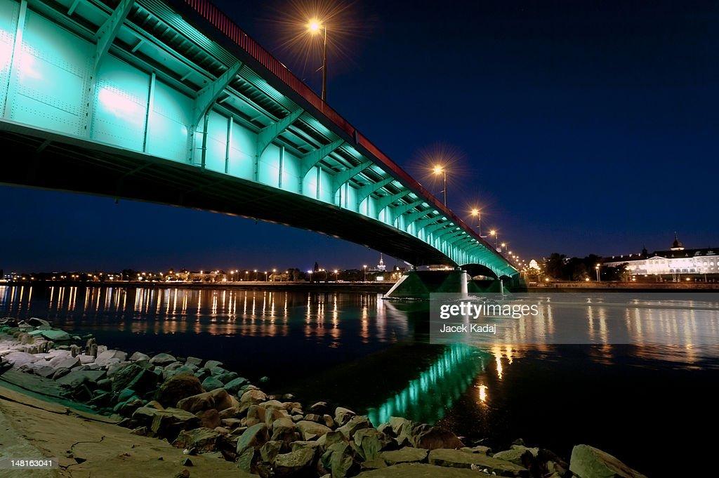 Night view of Warsaw : Stock Photo