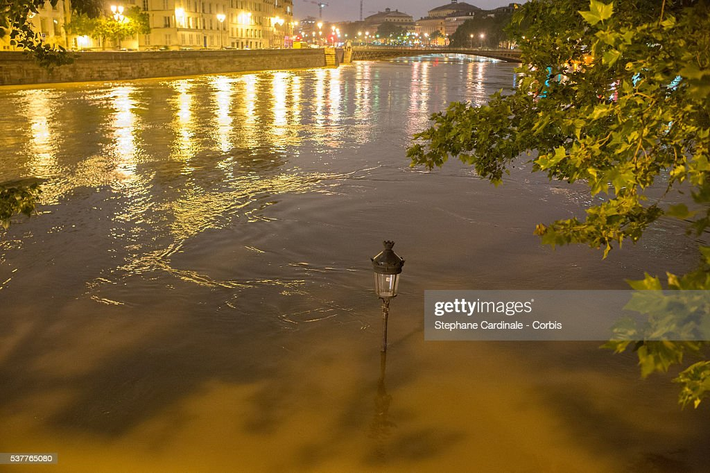 heavy rain flooded parts of paris photos and images getty images