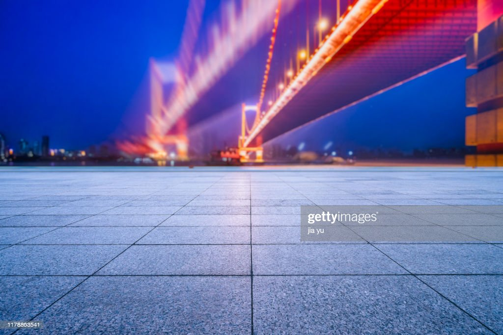 night view of Wuhan cityscape : Stock Photo
