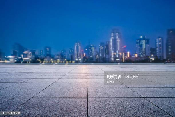 night view of wuhan cityscape - wuhan stock photos and pictures