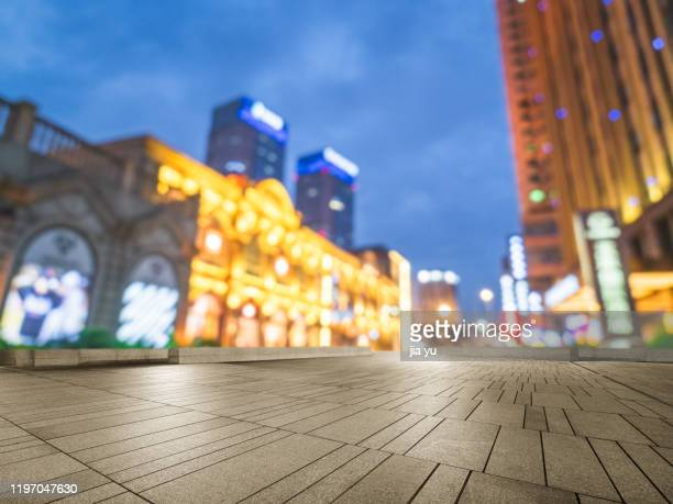 night view of wuhan optical valley business district. - wuhan stock pictures, royalty-free photos & images