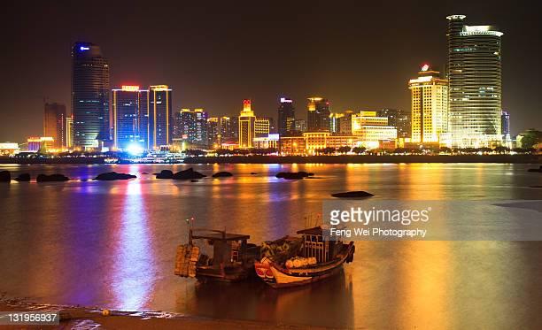 Night view of Xiamen, China