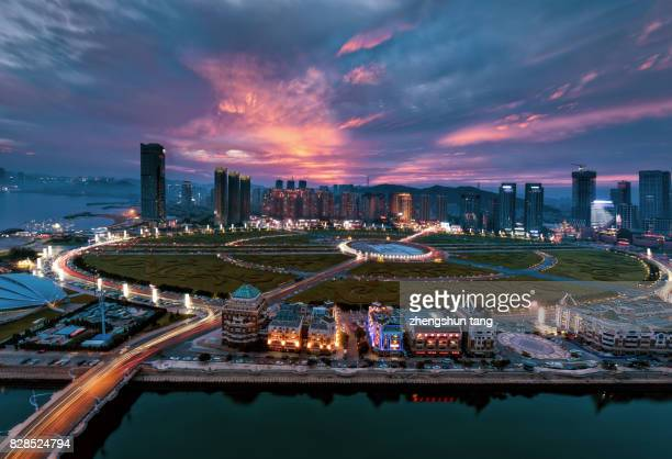 Night view of XingHai square.