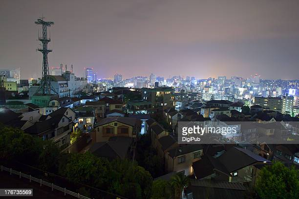 night view of yokohama from nogeyama - kanagawa prefecture stock pictures, royalty-free photos & images