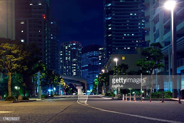 Night view of Yokohama portside district