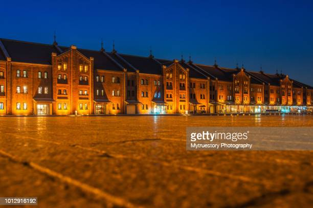 Night view of Yokohama Red Brick Warehouse in Japan