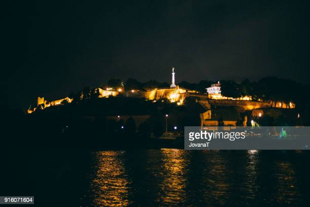 Night view on Kalemegdan fortress