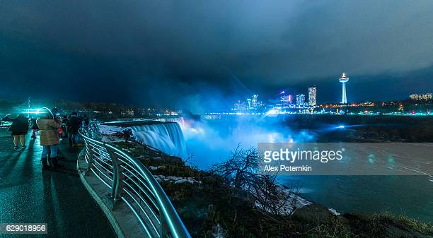 Night View to the Niagara Falls from the USA side.