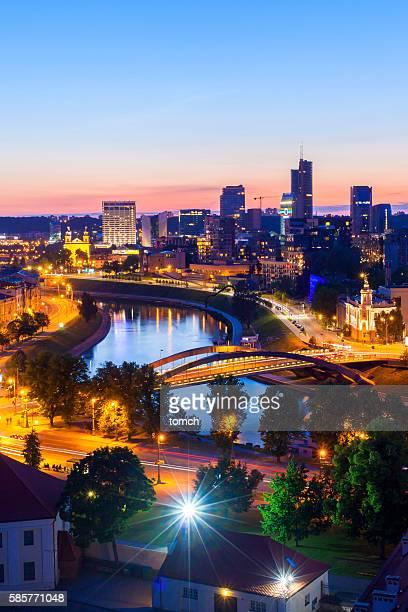 Night Vilnius, Lithuania.